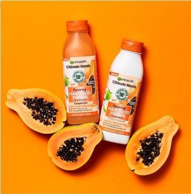 شامبو غارنييه بالبابايا Garnier Ultimate Blends Repairing Hair Food Papaya Shampoo